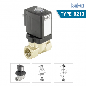 Type 6213 - Servo-assisted 2/2 way diaphragm valve