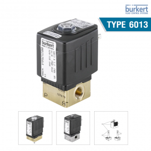 Type 6013 - Plunger valve 2/2 way direct-acting